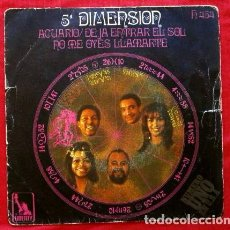 Discos de vinilo: 5ª DIMENSION (SINGLE 1969) ACUARIO - HAIR. Lote 65822094