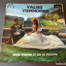 Discos de vinilo: VALSES VIENNOISES-- HANS WERNER ET SES 40 VIOLONS. Lote 65822450