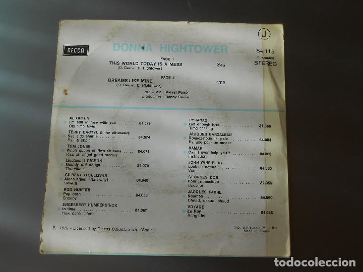 Discos de vinilo: DONNA HIGHTOWER - Foto 2 - 65823770