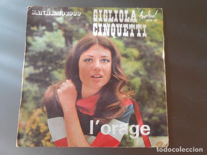 GIGLIOLA CINQUETTI--L´ORAGE (Música - Discos - Singles Vinilo - Grupos Españoles de los 70 y 80)