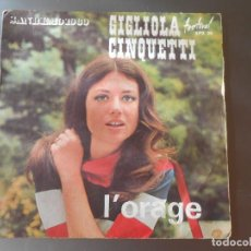Discos de vinilo: GIGLIOLA CINQUETTI--L´ORAGE. Lote 65826722