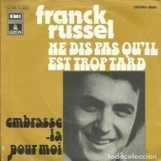 Discos de vinilo: FRANCK RUSSEL. SINGLE PROMOCIONAL. SELLO EMI-ODEON. EDITADO EN ESPAÑA. AÑO 1973. Lote 65837962