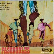 Discos de vinilo: PASODOBLES.JOSE AGUIRA Y ORQUESTA.EL GATO MONTES. EP ESPAÑA. Lote 65842926