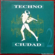 Discos de vinilo: VVAA: TECHNO CIUDAD 2 MIX, SINGLE DRO DG-043, SPAIN, 1993. NM/VG+. RAY, ASAP, FARMLOPEZ, SANTUARIO. Lote 65843326