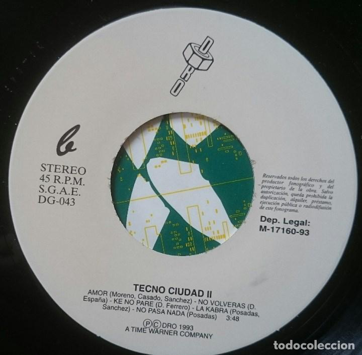 Discos de vinilo: VVAA: Techno Ciudad 2 Mix, Single DRO DG-043, Spain, 1993. NM/VG+. Ray, ASAP, Farmlopez, Santuario - Foto 3 - 65843326