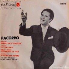 Discos de vinilo: PACORRO. BICHITO EN EL CORAZÓN. EP ESPAÑA. Lote 183987972