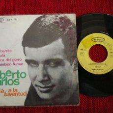 Discos de vinilo: ROBERTO CARLOS CANTA A LA JUVENTUD MI CACHARRITO EP. Lote 65858694