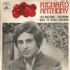 Discos de vinilo: EP RICHARD ANTHONY : LES BALLONS (JIM WEBB MAC ARTHUR PARK ). Lote 65877458