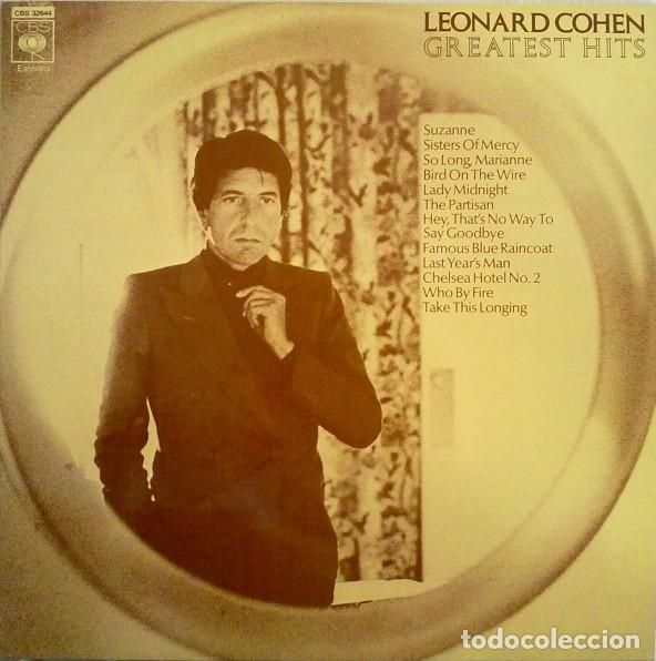 LEONARD COHEN - LP GREATEST HITS - ORIGINAL SPAIN 1987 (Música - Discos - LP Vinilo - Cantautores Extranjeros)