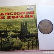 Discos de vinilo: CANCIONES DE ESPAÑA VOL. 1 - SONGS: SACRED AND PROFANE - CORAL SANT JORDI - MUY RARO. Lote 65885618