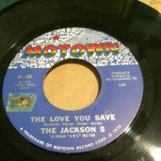 Discos de vinilo: 'THE LOVE YOU SAVE / I FOUND THAT GIRL' DE THE JACKSON 5. SINGLE DE MÁQUINA JUKE BOX USA. 1970. Lote 65898130