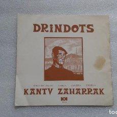 Dischi in vinile: DRINDOTS - KANTU ZAHARRAK EP 1972 4 TEMAS. Lote 65904770