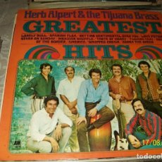 Discos de vinilo: HERB ALPERT & THE TIJUANA BRASS - GREATEST HITS. Lote 65960302