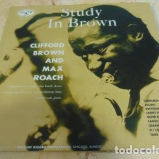 Discos de vinilo: CLIFFORD BROWN AND MAX ROACH – STUDY IN BROWN - LP REEDICION 2010. Lote 65974414
