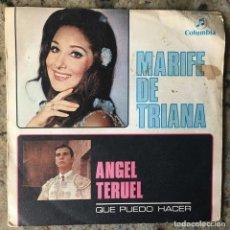 Discos de vinilo: MARIFÉ DE TRIANA - ANGEL TERUEL . SINGLE . 1969 COLUMBIA . Lote 65992626