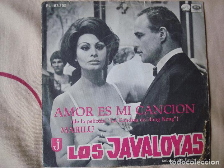 LOS JAVALOYAS - AMOR ES MI CANCION / MARILU, SINGLE ESPAÑOL DE 1967 (Música - Discos - Singles Vinilo - Grupos Españoles 50 y 60)