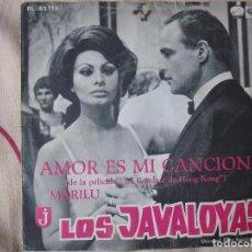 Discos de vinilo: LOS JAVALOYAS - AMOR ES MI CANCION / MARILU, SINGLE ESPAÑOL DE 1967. Lote 66002922