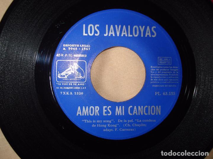 Discos de vinilo: los javaloyas - amor es mi cancion / marilu, single español de 1967 - Foto 2 - 66002922