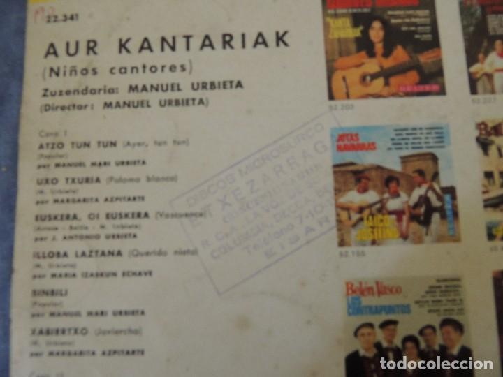 Discos de vinilo: aur kantariak niños cantores - Foto 3 - 220383370