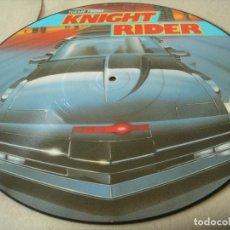 Discos de vinilo: KNIGHT RIDER EL COCHE FANTÁSTICO BSO MAXI SINGLE PICTURE DISC DA RECORDS 1989 ALEMANIA. Lote 66010058