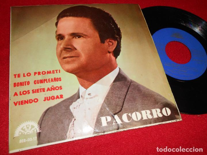 PACORRO&ALFONSO Y PACO GENIL TE LO PROMETI/BONITO CUMPLEAÑOS/VIENDO JUGAR +1 EP 1966 BERTA (Música - Discos de Vinilo - EPs - Flamenco, Canción española y Cuplé)