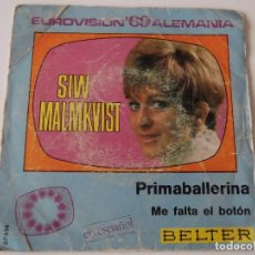 Discos de vinilo: SIW MALMKVIST - PRIMABALLERINA. Lote 103967346
