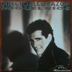 Discos de vinilo: MIGUEL RÍOS: DIRECTO AL CORAZÓN, LP POLYDOR 847 905-1, SPAIN, 1991. NM/EX. Lote 66045034