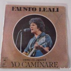 Discos de vinilo: FAUSTO LEALI - YO CAMINARÉ. Lote 66053530