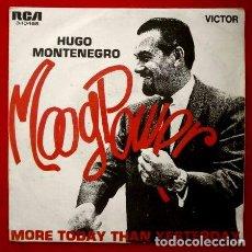 Discos de vinilo: HUGO MONTENEGRO - (SINGLE RCA 1969) MOOG POWER /MORE TODAY THAN YESTERDAY (BUEN ESTADO). Lote 66055498