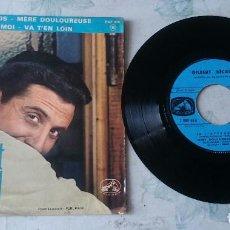 Discos de vinilo: GILBERT BECAUD: JE T'ATTENDS + 3 (LA VOZ DE SU AMO FRANCIA 1963). Lote 66059294