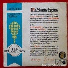 Discos de vinilo: LOS RELAMPAGOS (SINGLE ZAFIRO 1967) LA SANTA ESPINA / EL TORNEO. Lote 66073166