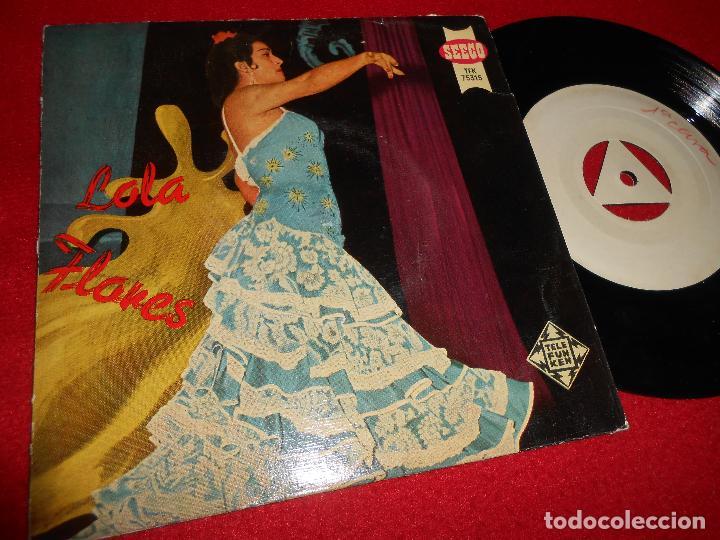 LOLA FLORES LA VELETA/JUNTO AL RIO MAGDALENA +2 EP 1958 PROMO TEST PRESSING (Música - Discos de Vinilo - EPs - Flamenco, Canción española y Cuplé)