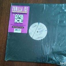 Discos de vinilo: VANILLA ICE FEATURING NAOMI CAMPBELL-COOL AS ICE.MAXI USA. Lote 66132578