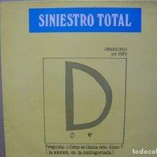 Discos de vinilo: SINIESTRO TOTAL. GRANDES ÉXITOS. DRO 4D-230 LP 1987 SPAIN. Lote 158388202