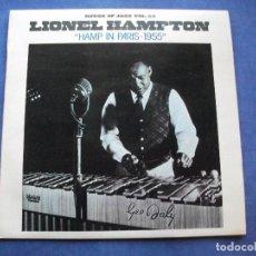 Discos de vinilo: LIONEL HAMPTON HAMP IN PARIS 1955 LP SPAIN 1981 PDELUXE. Lote 66177302
