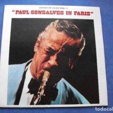 Discos de vinilo: PAUL GONSALVES PAUL GONSALVES IN PARIS LP SPAIN 1981 PDELUXE. Lote 66178270