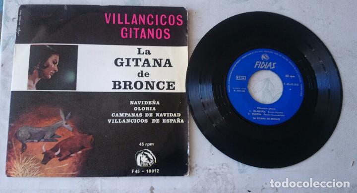 LA GITANA DE BRONCE: NAVIDEÑA + 3 (FIDIAS 1966) (Música - Discos de Vinilo - EPs - Flamenco, Canción española y Cuplé)