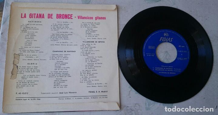 Discos de vinilo: LA GITANA DE BRONCE: NAVIDEÑA + 3 (FIDIAS 1966) - Foto 2 - 66184486