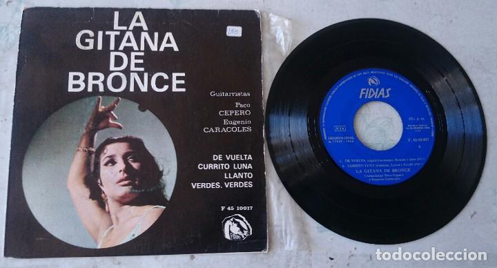 LA GITANA DE BRONCE: DE VUELTA +3 (FIDIAS 1966) (Música - Discos de Vinilo - EPs - Flamenco, Canción española y Cuplé)