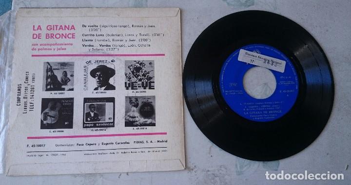 Discos de vinilo: LA GITANA DE BRONCE: De vuelta +3 (FIDIAS 1966) - Foto 2 - 66184730