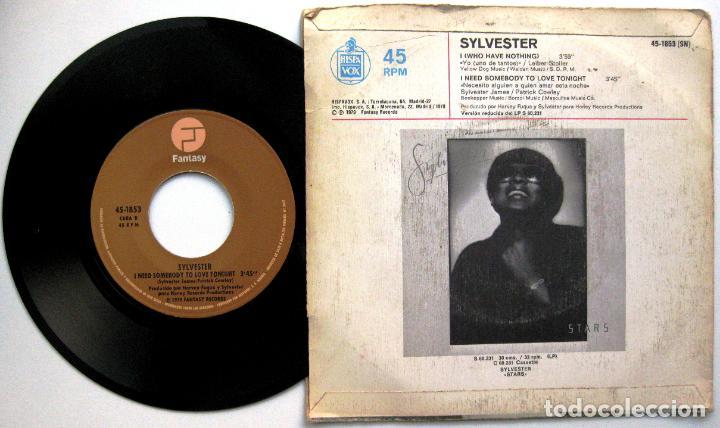 Discos de vinilo: Sylvester - I (Who Have Nothing) - Single Hispavox / Fantasy 1979 BPY - Foto 2 - 66232106