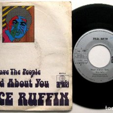 Discos de vinilo: BRUCE RUFFIN - MAD ABOUT YOU / SAVE THE PEOPLE - SINGLE ARIOLA 1972 BPY. Lote 66324498