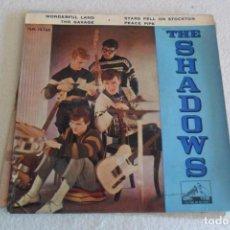 Discos de vinilo: THE SHADOWS - WONDERFUL LAND + 3 EP 1962. Lote 66419974