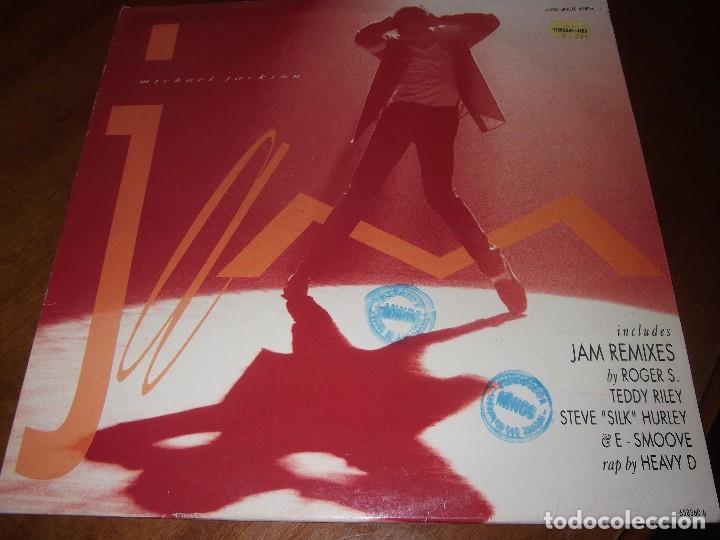Michael Jackson ?– Jam Sello: Epic ?– 658360 6 Vinyl, 45 RPM, Maxi-Single  spanish edit