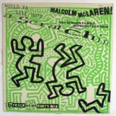 Discos de vinilo: MALCOM MCLAREN. SCRATCHIN. 1984. PORTADA DE KEITH HARING. 6 TRACK HIP HOP PARTI MIX. CHARISMA RECOR. Lote 66476634