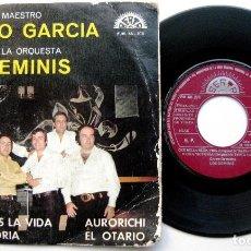 Discos de vinilo: ORQUESTA LOS GEMINIS - CANCIONES DEL MAESTRO TEOFILO GARCIA - EP BERTA PROMO 1974 BPY. Lote 66487974