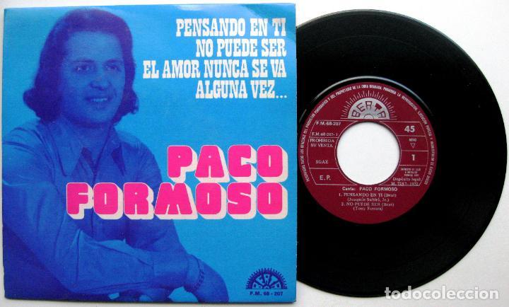 PACO FORMOSO - PENSANDO EN TI + 3 - EP BERTA PROMO 1972 BPY (Música - Discos de Vinilo - EPs - Solistas Españoles de los 70 a la actualidad)