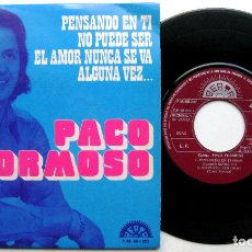 Discos de vinilo: PACO FORMOSO - PENSANDO EN TI + 3 - EP BERTA PROMO 1972 BPY. Lote 66488522