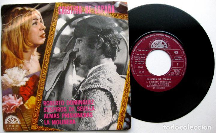 CRISTINA DE ESPAÑA - ROBERTO DOMINGUEZ + 3 - EP BERTA PROMO 1974 BPY (Música - Discos de Vinilo - EPs - Solistas Españoles de los 70 a la actualidad)