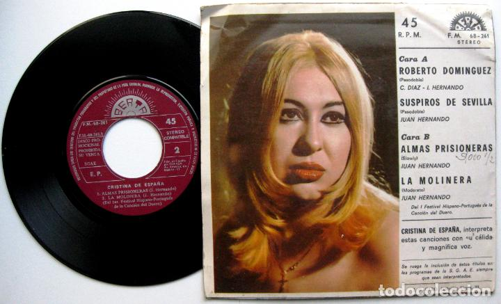Discos de vinilo: Cristina De España - Roberto Dominguez + 3 - EP Berta PROMO 1974 BPY - Foto 2 - 66489090